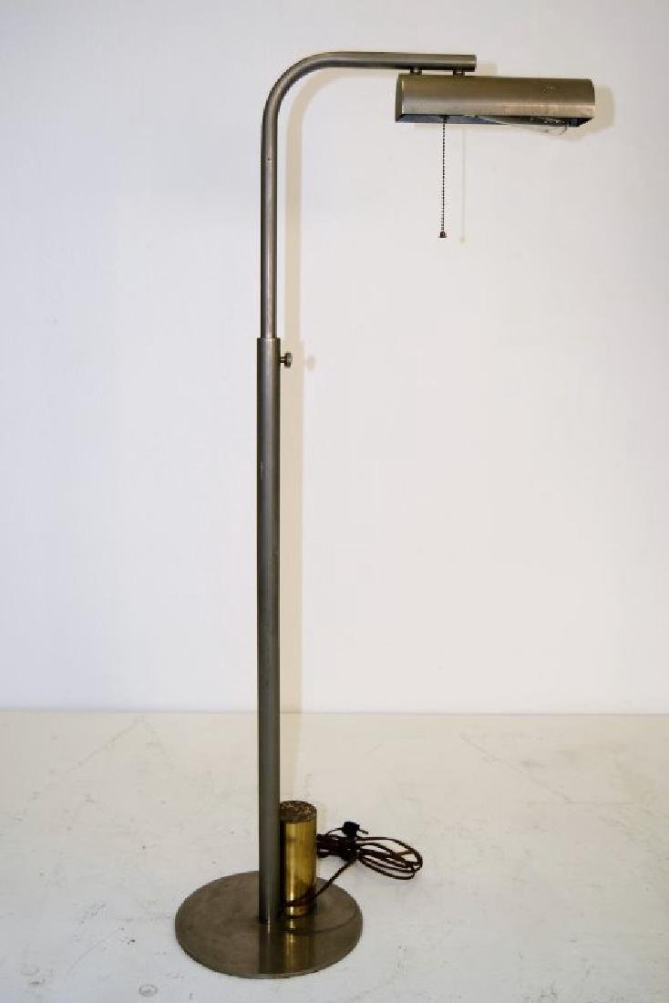 Charles Hollis Jones Nickel and Brass Floor Lamp
