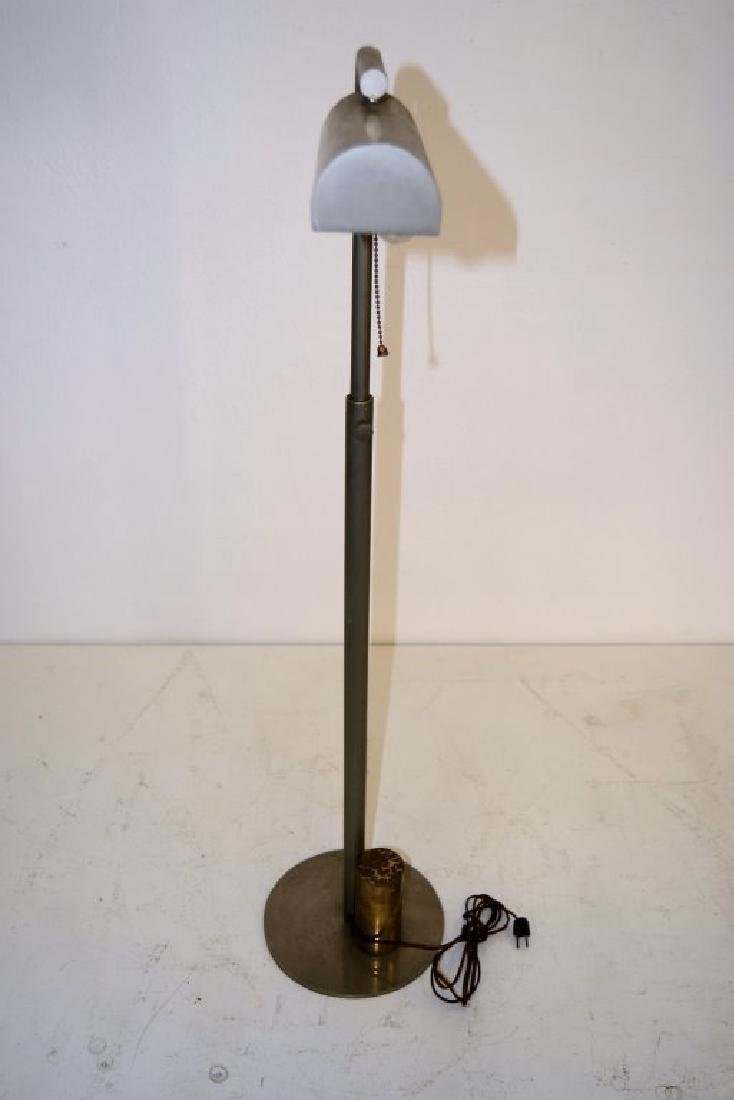 Charles Hollis Jones Nickel and Brass Floor Lamp - 3
