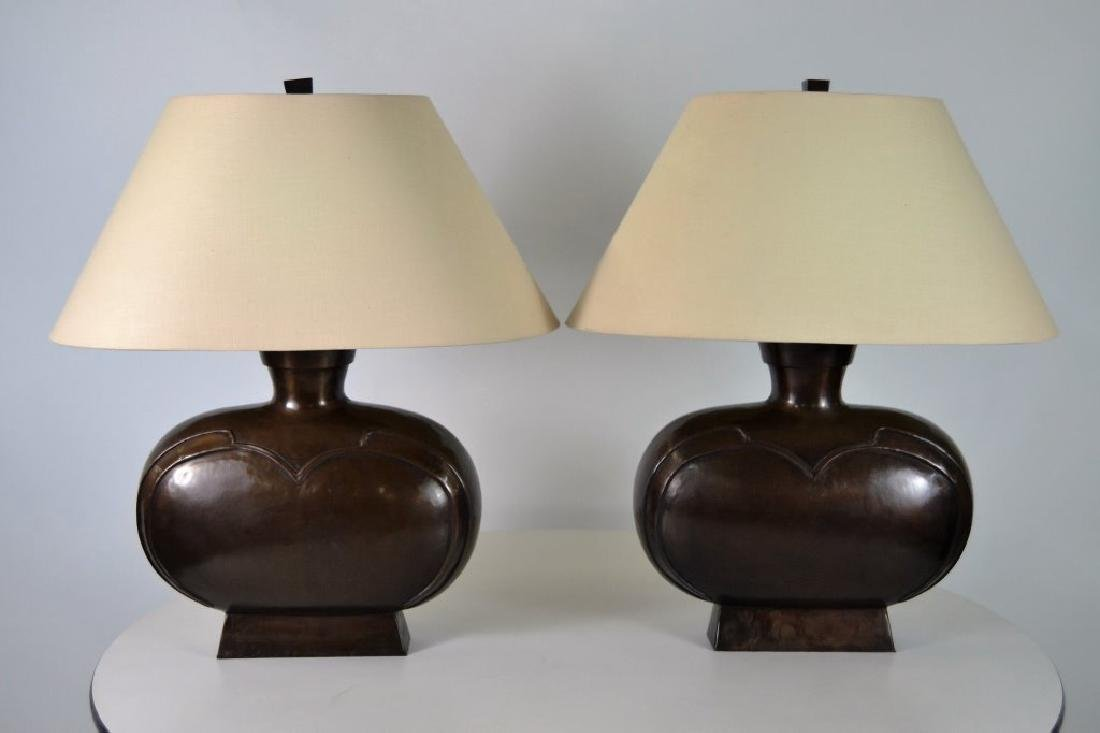 Bronze Modernist Table Lamps