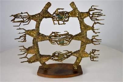 Brutalist Bronze Sculpture