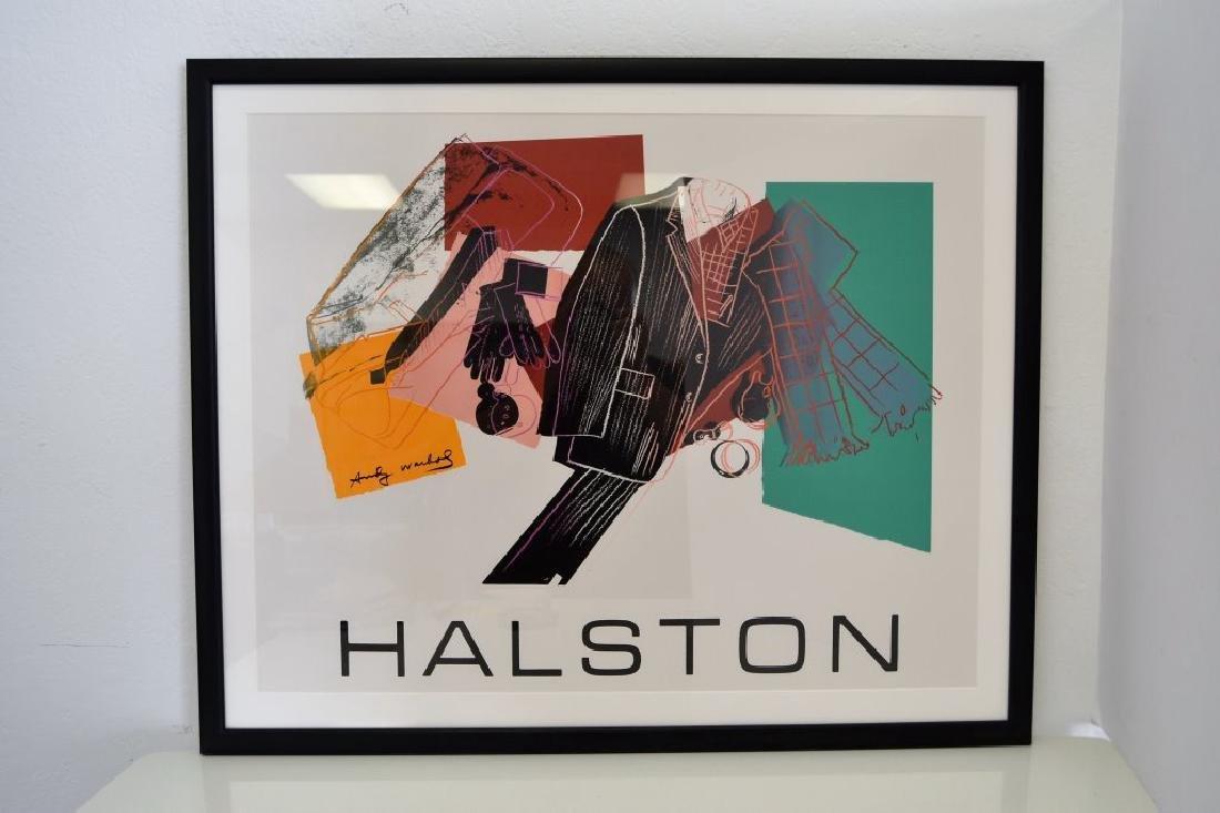 Andy Warhol Halston Lithograph