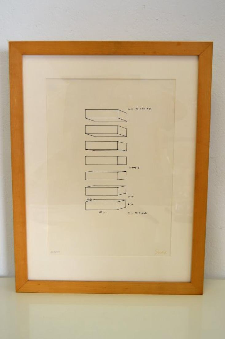 Donald Judd Signed Lithograph