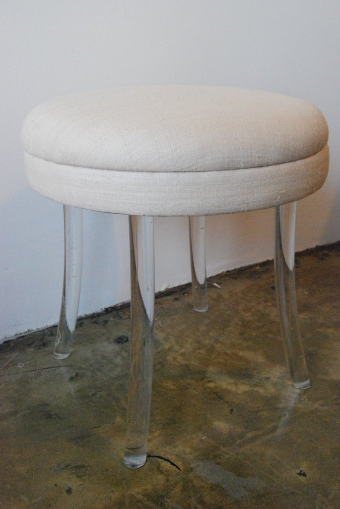 19: Billy Haines Lucite Leg Vanity Stool