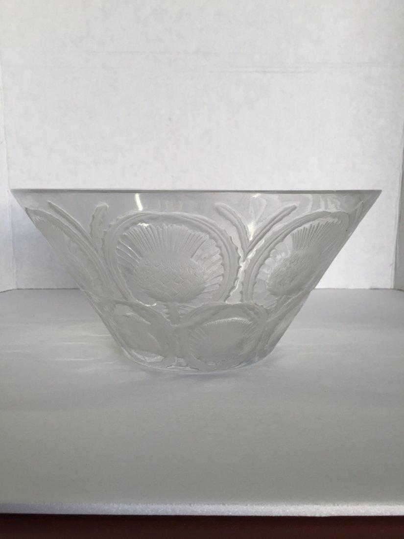 Lalique Thistle Bowl