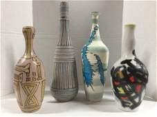 Gambone Set of 4 Great Vases - As Is