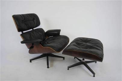 Charles Eames Rosewood 670/671 Lounge Chair and Ottoman