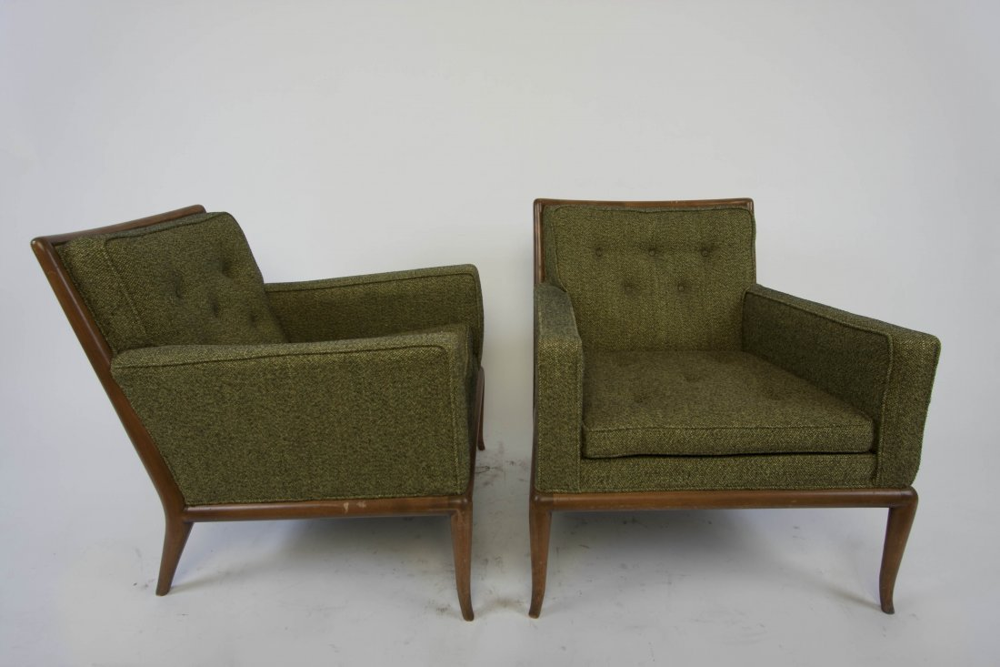 Robsjohn Gibbings Flared Leg Lounge Chairs