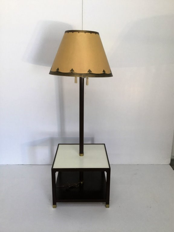 Tommi Parzinger Floor Lamp with Table