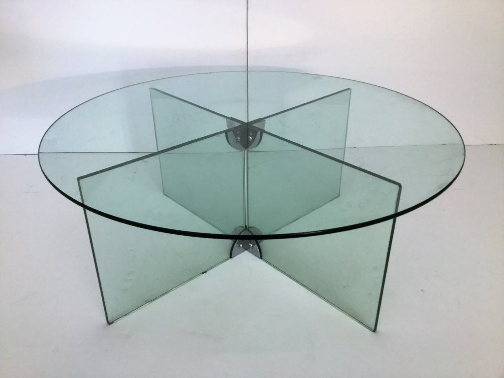 Galotti & Radice Glass Cocktail Table