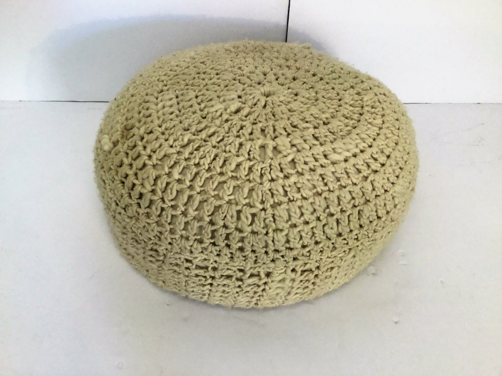 "Looped Yarn Pouf 32""Round"