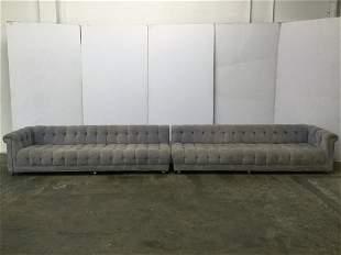 Dunbar Custom Tufted 2Pc Sofa by Edward Wormley