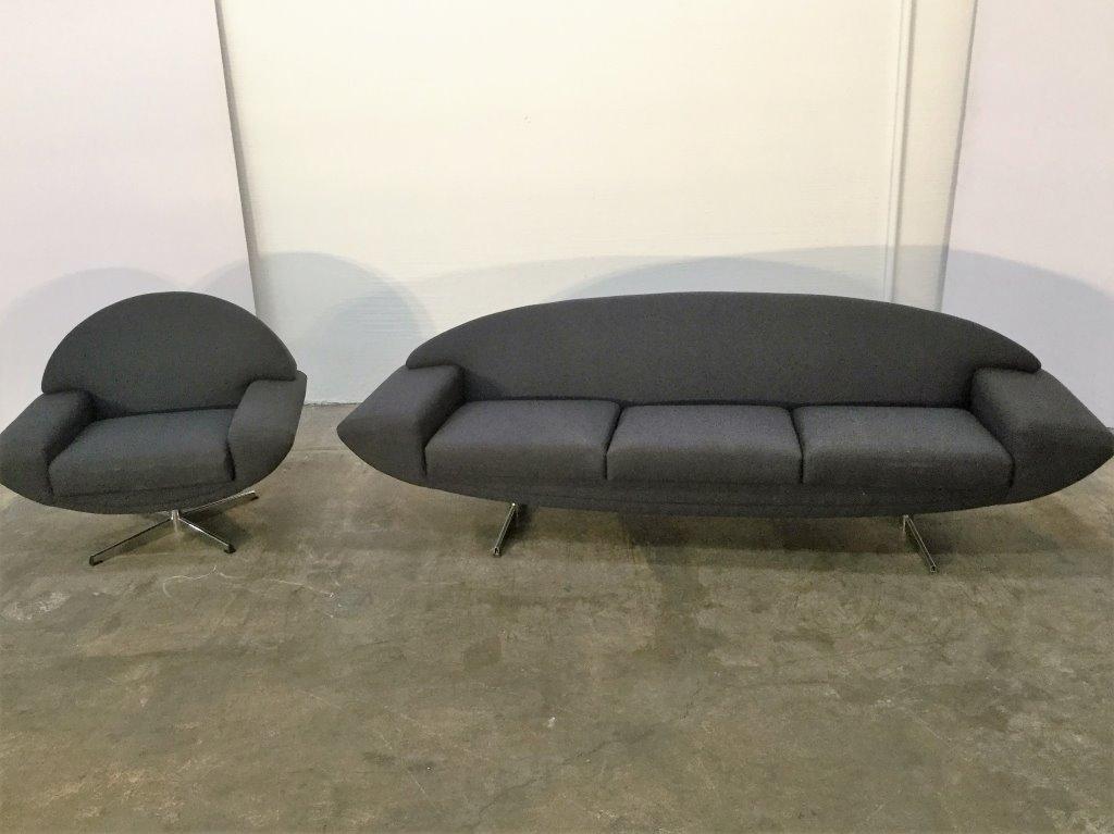 "Johannes Andersen ""Capri"" Sofa & Chair Sofa"