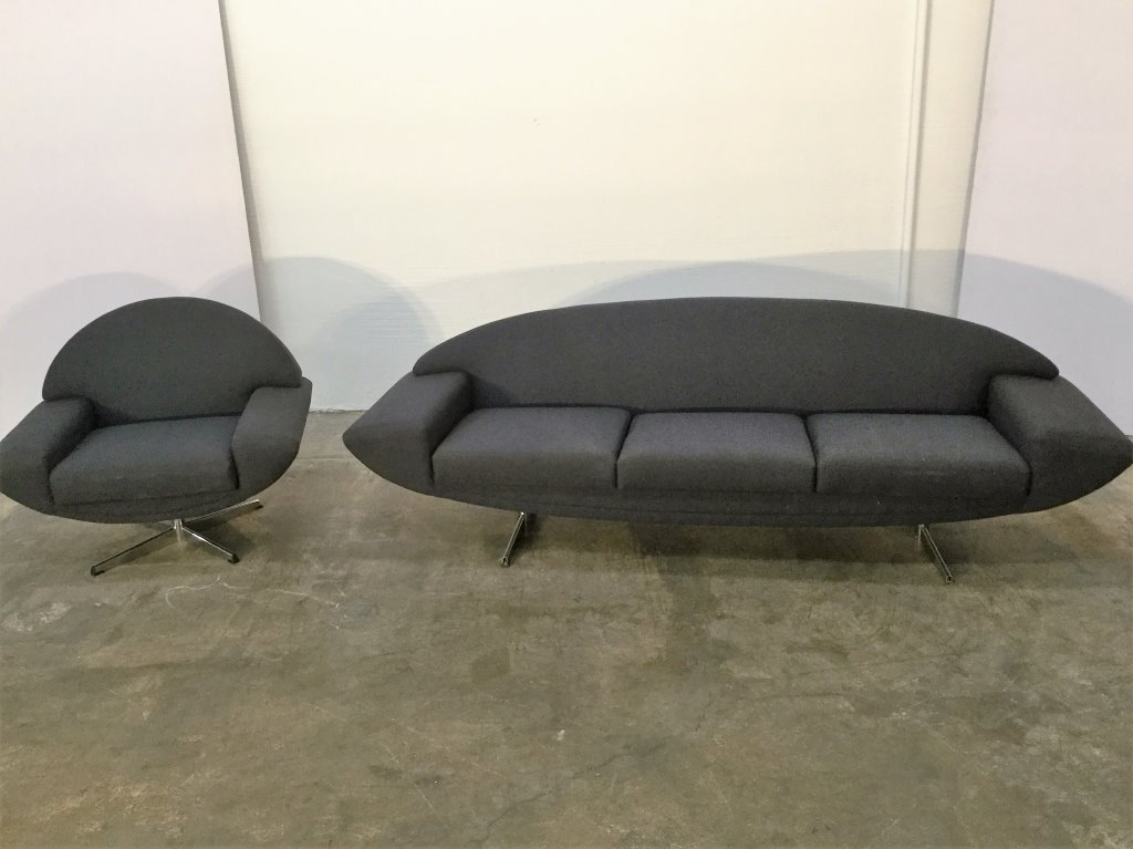 "Johannes Andersen ""Capri"" Sofa & Chair Sofa"