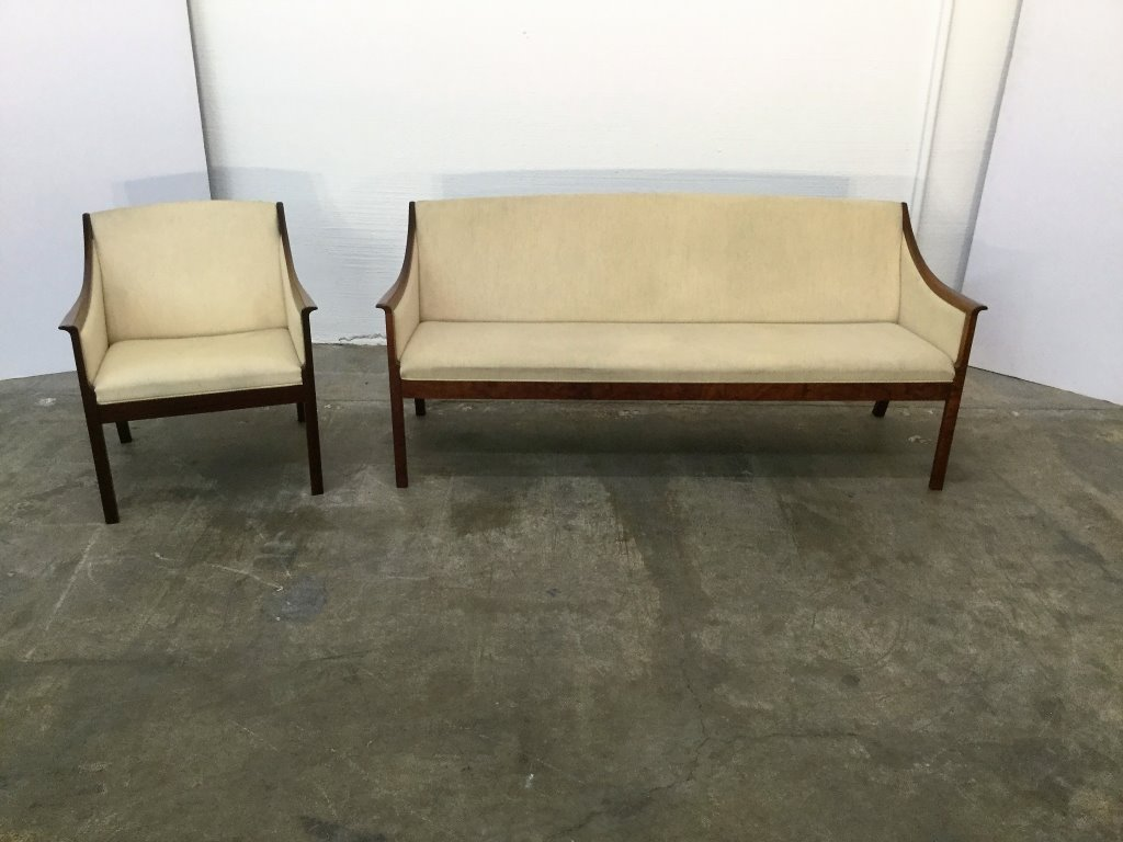 Ole Wanscher Rosewood Sofa & Chair