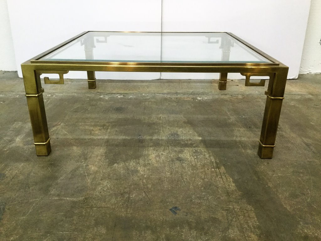 Mastercraft Greek Key Brass Cocktail Table