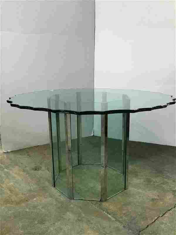 Pace Dining Table With Custom Chip Glass Top