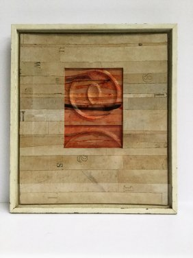 """Robert Courtright """"collage Relief"""" 1963"""