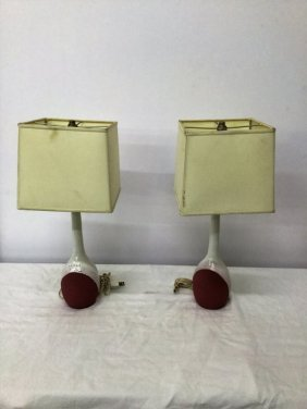 Pair Ettore Sottsass For Bitossi Table Lamp