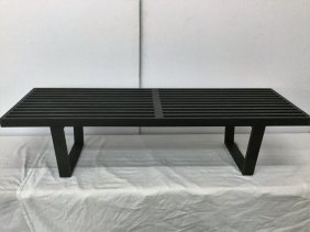 George Nelson Black Slat Bench
