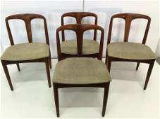Set of Four Danish Chairs