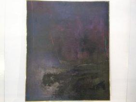 """Signed Burton """"marratooka Three"""" Large Oil On Canvas"""
