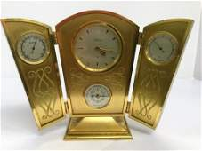 Angelus Table Clock with Barometer