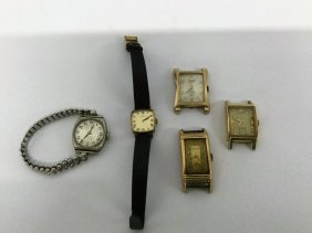 Group Of Five Mens Watches Including