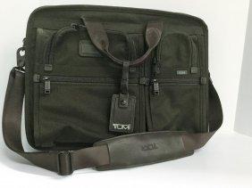Tumi Brown Leather/canvas Briefcase