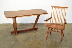 George Nakashima Important Minguren Desk With Chair