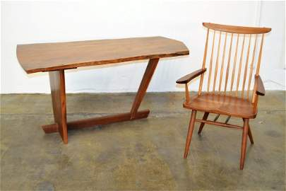 George Nakashima Important Minguren Desk with Chair