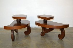 Pair Modernist Side Tables