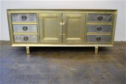 Silver Leaf and Antique Mirror Sideboard