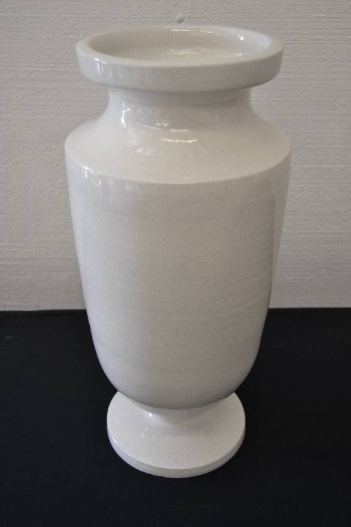 Large Italian Majolica White Floor Vase - 2
