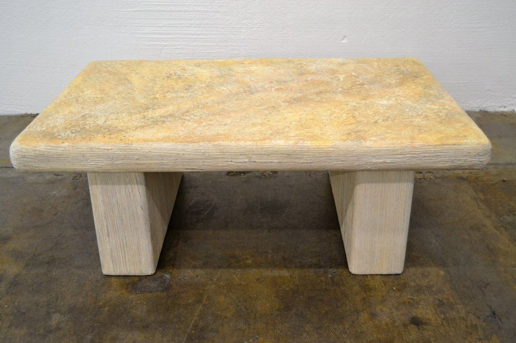 Steve Chase Faux Stone Cocktail Table