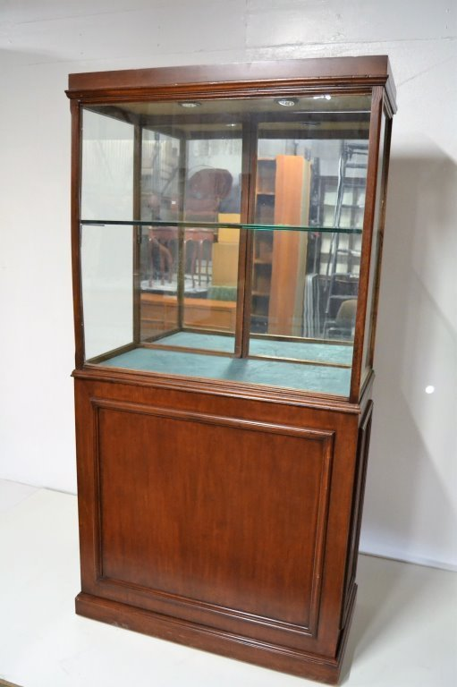 Antique Walnut Showcase - 2