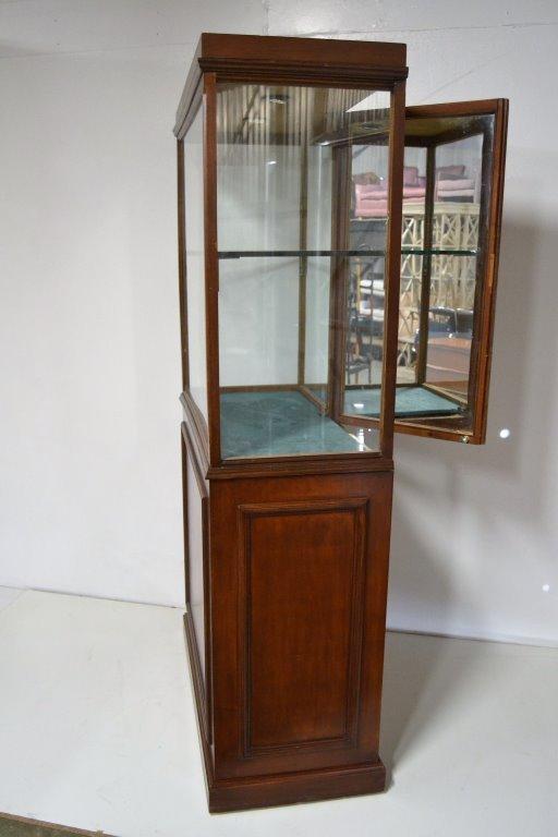 Antique Walnut Showcase - 3