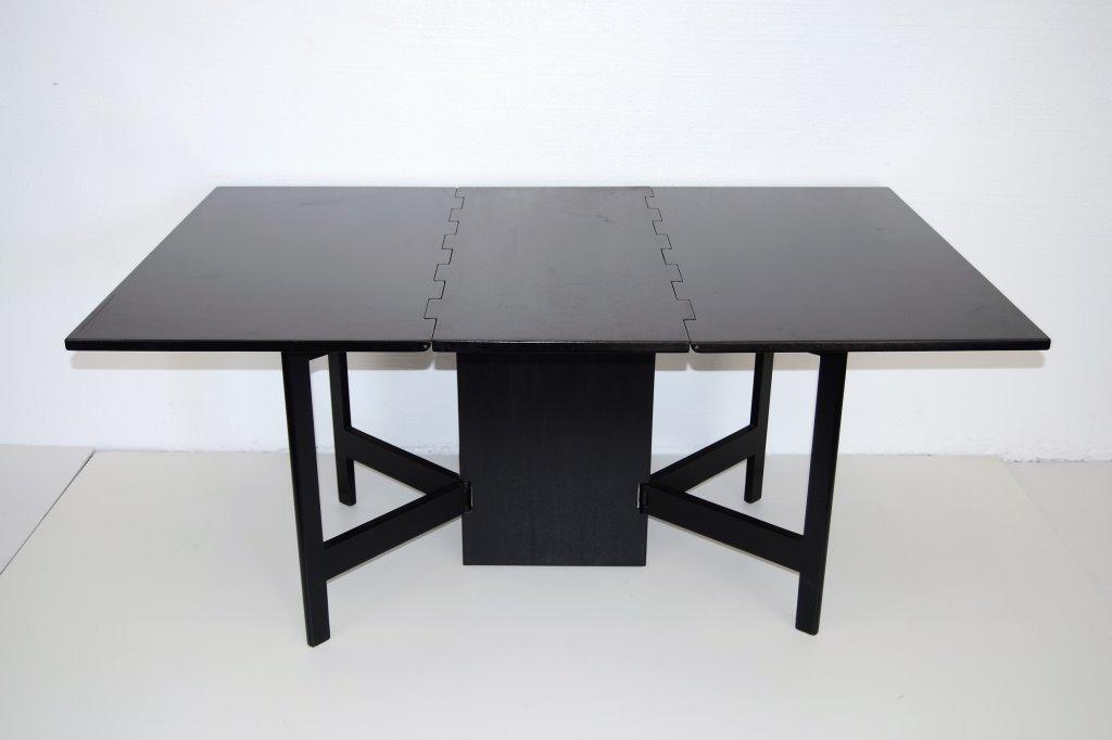 George Nelson Drop Leaf Ebonized Table