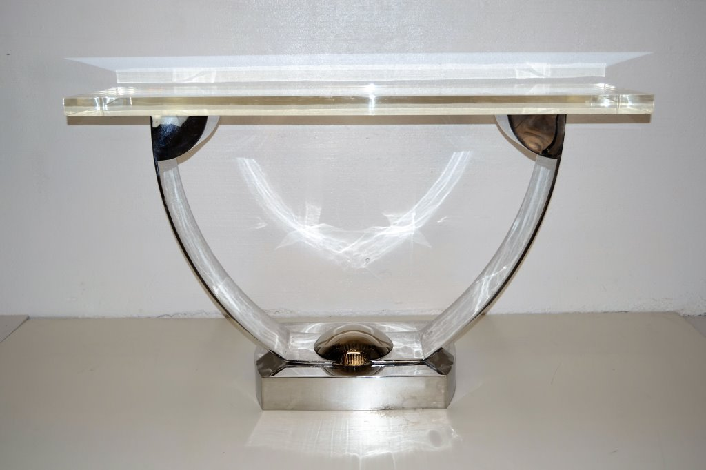 Stanley Jay Friedman for Brueton Stainless Console