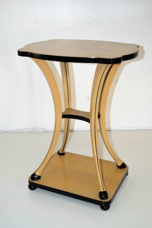 French Side Table w/ Hoof Accent Legs