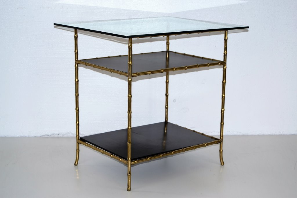 Bagues Faux Brass Three Tier Table