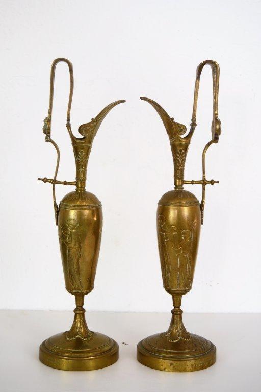 Tiffany & Company Bronze Urns- Signed