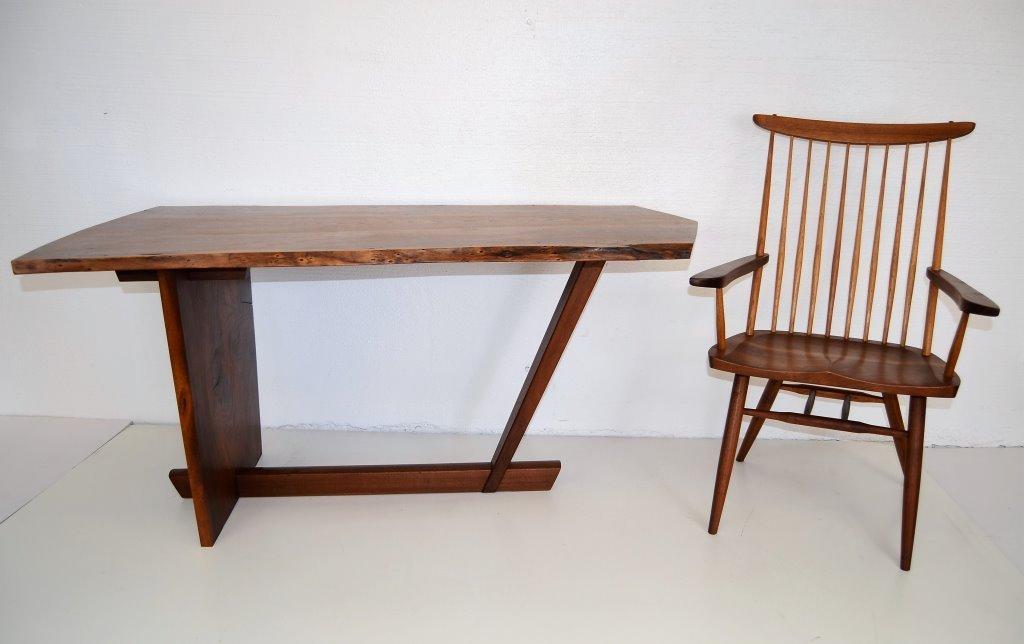 George Nakashima Important Minguren Desk & Chair