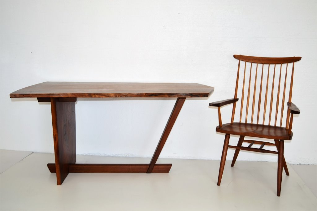 George Nakashima Important Minguren Desk & Chair - 2
