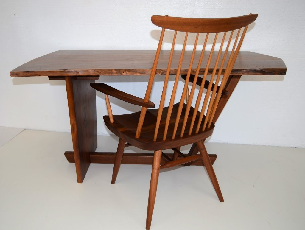 George Nakashima Important Minguren Desk & Chair - 3
