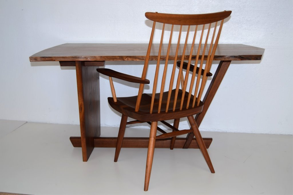 George Nakashima Important Minguren Desk & Chair - 4