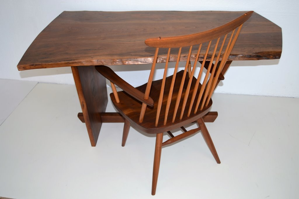 George Nakashima Important Minguren Desk & Chair - 5