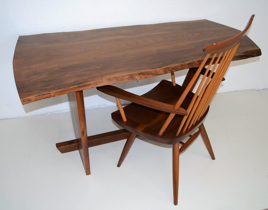 George Nakashima Important Minguren Desk & Chair - 6