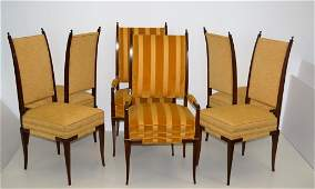 Tommi Parzinger Custom Dining Chairs Set of Six