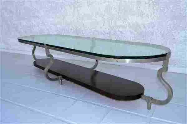 Tommi Parzinger Custom Glass Top Cocktail Table