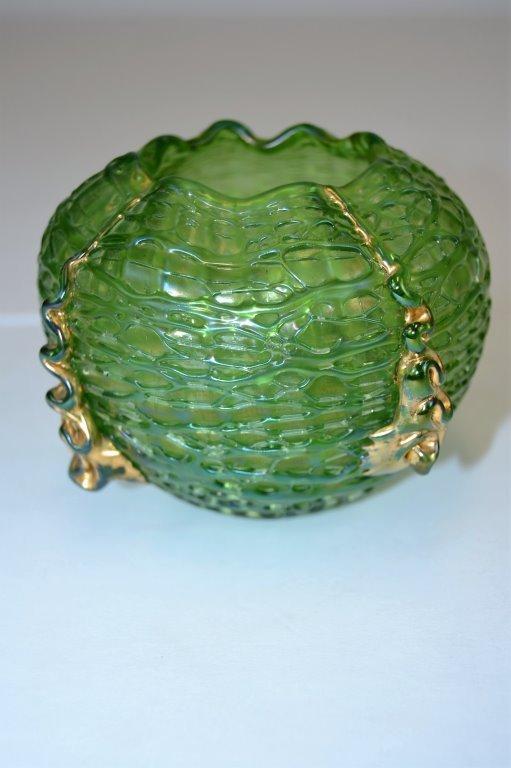 Loetz Green Vase